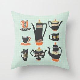 Coffee or Tea? Throw Pillow