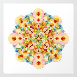 Pastel Carousel Mandala Art Print