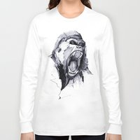 fierce Long Sleeve T-shirts featuring Wild Rage by Philipp Zurmöhle
