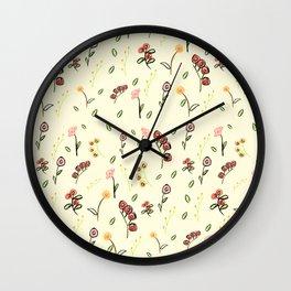 Romantic Peach Wall Clock