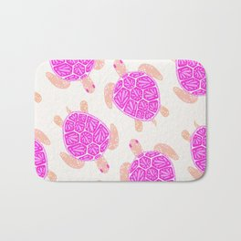 Sea Turtle – Pink Palette Bath Mat