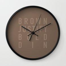 MetaType Brown Wall Clock