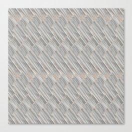 Light gray texture. Hatching Canvas Print
