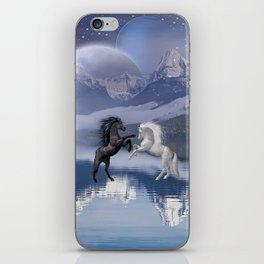 Magic Horses and Moon iPhone Skin