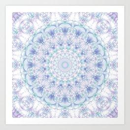 Purple, Blue, and Green Pastel Mandala Art Print