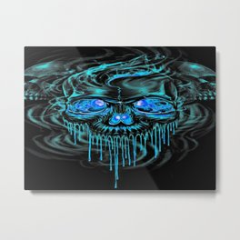 Winter Ice Skeletons Metal Print
