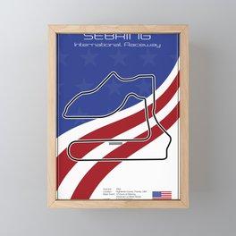 Sebring Racetrack Framed Mini Art Print
