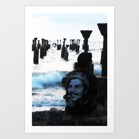 Che by the sea Art Print