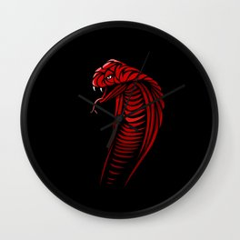 Tribal Cobra Wall Clock