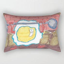 Healthy Fried Egg Rectangular Pillow