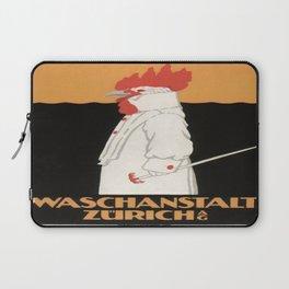 Vintage poster - Waschanstalt Zurich Laptop Sleeve