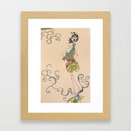 Fashion sketch 3. Summer fairy Framed Art Print