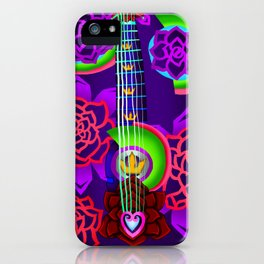 Fusion Keyblade Guitar #168 - Overdrive & Divine Rose iPhone Case