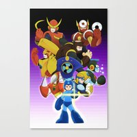 megaman Canvas Prints featuring Megaman 2 by Patrick Towers