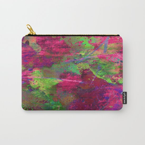 Fusion In Pink And Green Carry-All Pouch