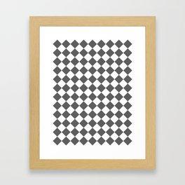 Diamonds - White and Dark Gray Framed Art Print