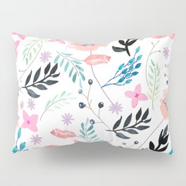Sweet Floral Watercolor Pillow Sham