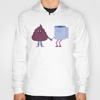 toilet Hoodies featuring SBF: Poop & Toilet Paper by Mauro Gatti