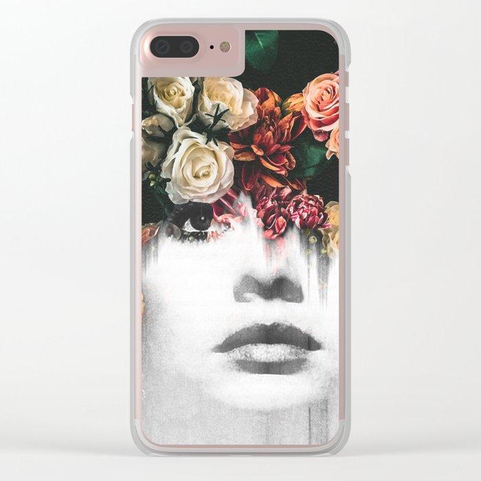 Floral Portrait Clear iPhone Case