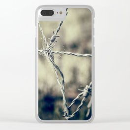 Pointy Droplets Clear iPhone Case