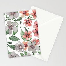 FLOWERS WATERCOLOR 12 Stationery Cards