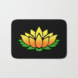 Yellow Lotus Bath Mat