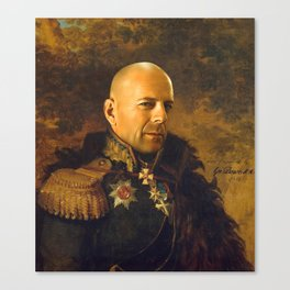 Bruce Willis - replaceface Canvas Print