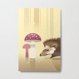 Little Hedgehog Metal Print