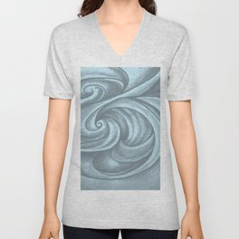 Swirl (Gray Blue) Unisex V-Neck