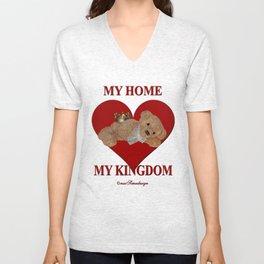 My Home, My Kingdom - Red Unisex V-Neck