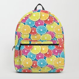 Citrus fruit slices pop art  Backpack
