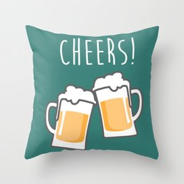 Cheers for peers with beer - Enjoy beer day with your friends Throw Pillow