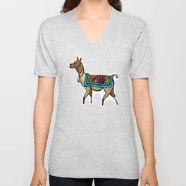 Lofty Llama Unisex V-Neck