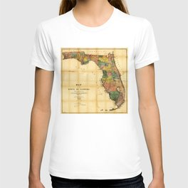 Map of the State of Florida (1856) T-shirt