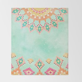 FESTIVAL VIBES -CALI SUMMER Throw Blanket