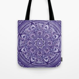 Great Purple Mandala Tote Bag