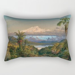 Volcán Cayambe, Ecuador Landscape Painting by Frederic Edwin Church Rectangular Pillow