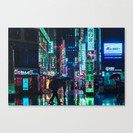 Neon in the Night Canvas Print