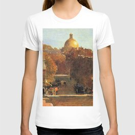 Classical Masterpiece 'Mount Vernon Street, Boston' by Frederick Childe Hassam T-shirt