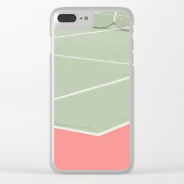 Tennis game Clear iPhone Case