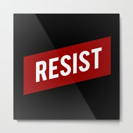 RESIST red white bold anti Trump Metal Print