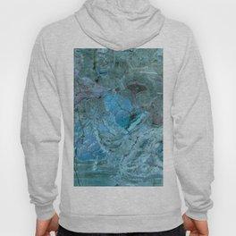 Oceania Teal & Blue Marble Hoody