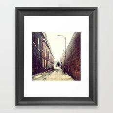 Diagonal Alley Framed Art Print
