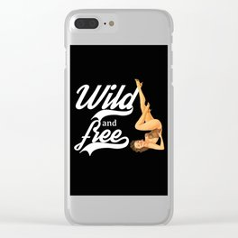 Wild and free,retro style Clear iPhone Case