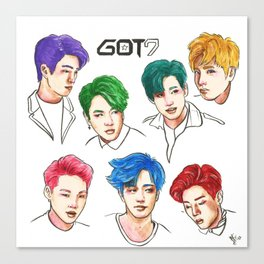 GOT7 Colourful Canvas Print