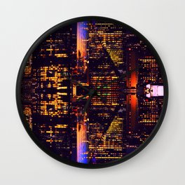 Aura  | Musical Crime Productions | Digital Manipulation Photography | City Lights Photography Wall Clock
