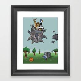 Noah's journey Framed Art Print
