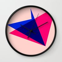 origami Wall Clocks featuring Origami by TheseRmyDesigns