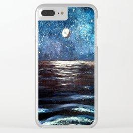 Beach Galaxy Clear iPhone Case