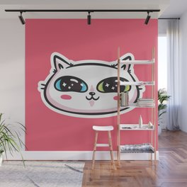 Starry Eyed Cat Wall Mural